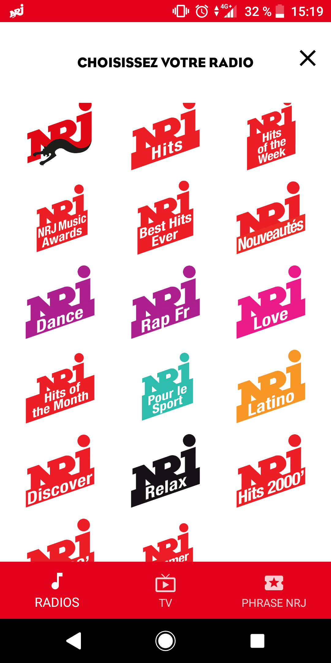 App NRJ - screenshot android