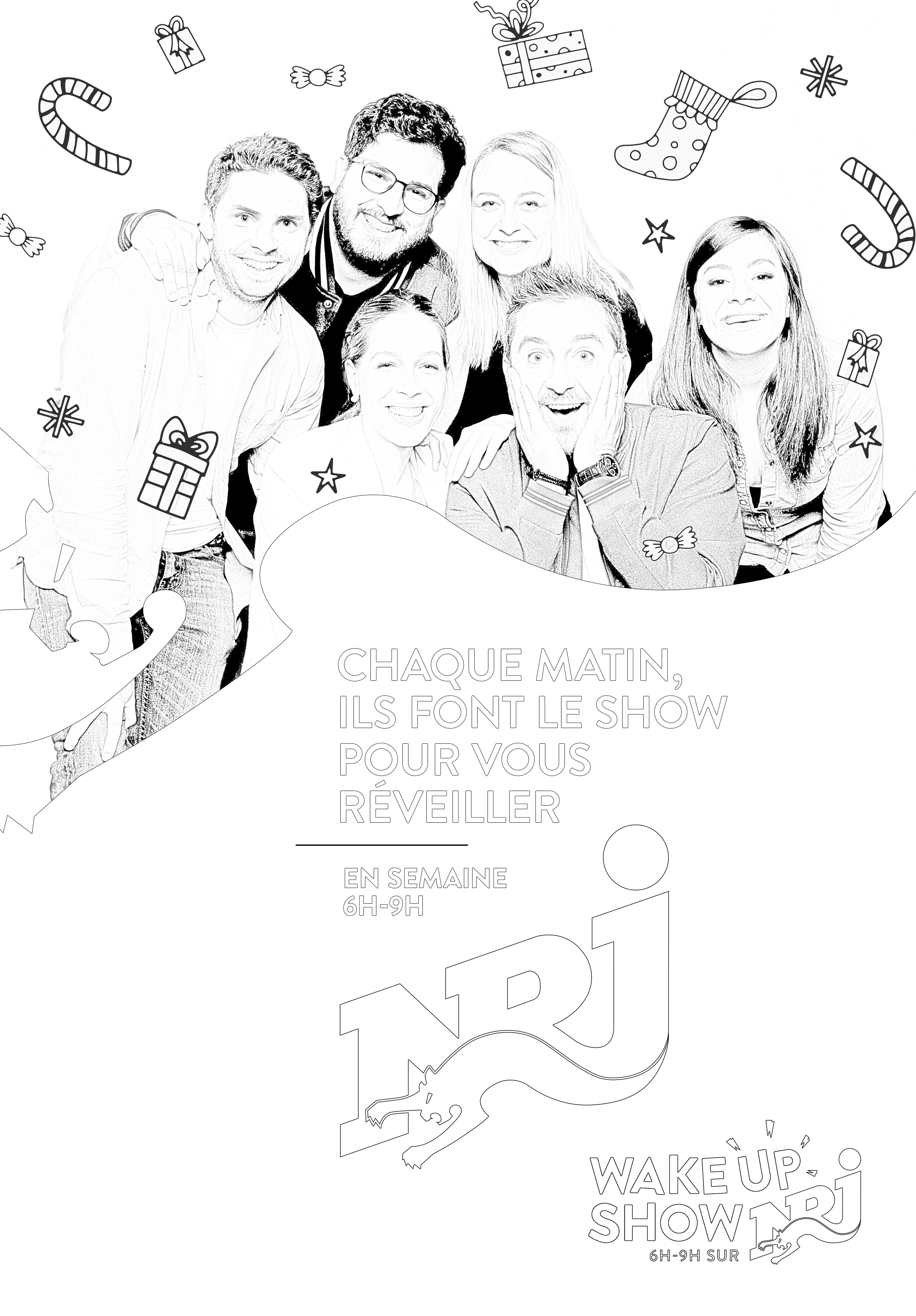 Coloriage Wake Up show