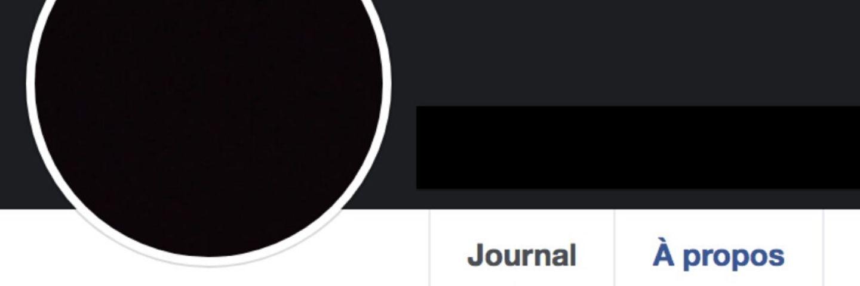 Profil facebook noir