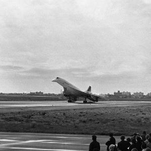Premier atterrissage du Concorde à New York.