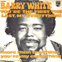 cover Barry White You're the first, the last, my everything