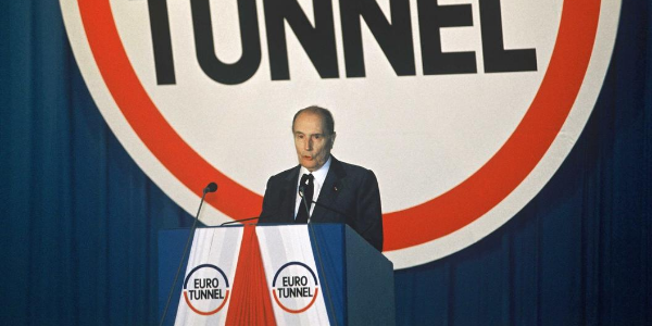 Inauguration du tunnel sous la Manche