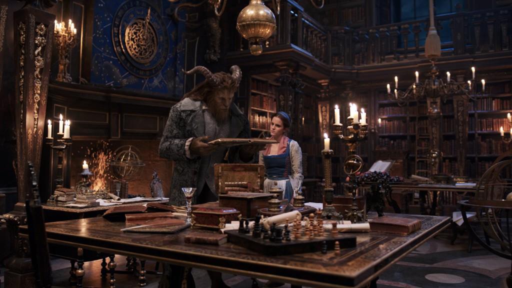bibliothèque belle et bête