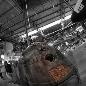 Atterrissage de Soyouz, la capsule Russe