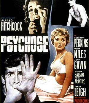 1960 - Sortie Psychose d'Alfred Hitchcock - carré