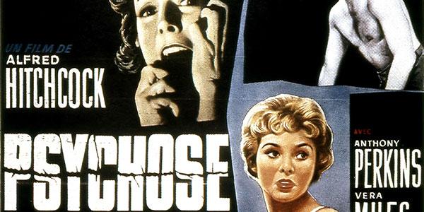 1960 - Sortie Psychose d'Alfred Hitchcock - banner