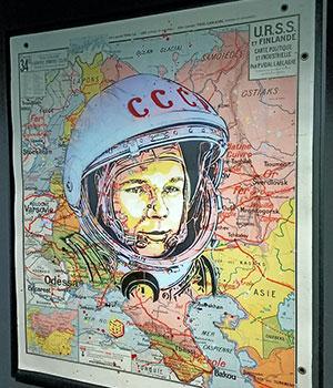 1961 premier vol de Youri Gagarine - Carré