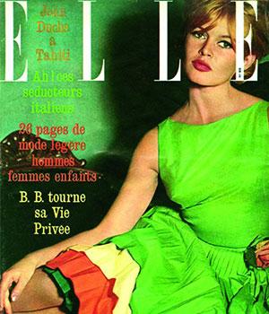 """1961 Brigitte Bardot pose pour le magazine """"Elle"""""""