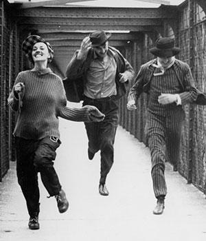 """1962 Première du film """"Jules et Jim"""" de F. Truffaut"""