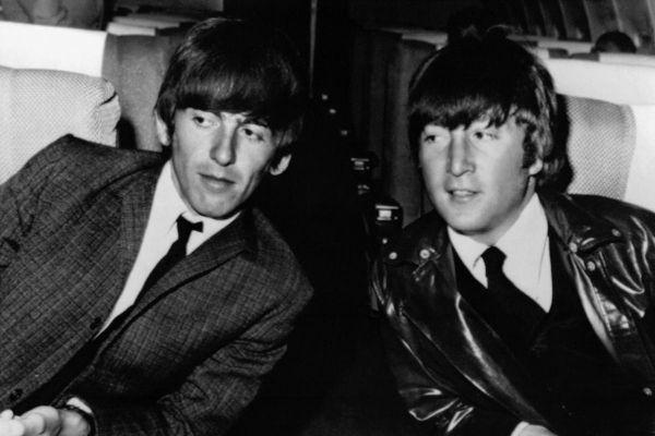 John Lennon et George Harrison