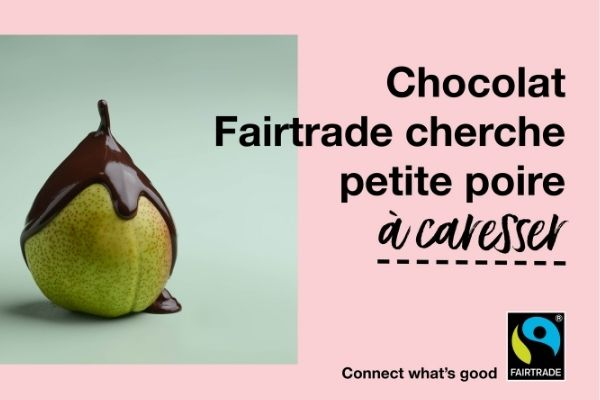Poire chocolat commerce equitable fair trade belgium