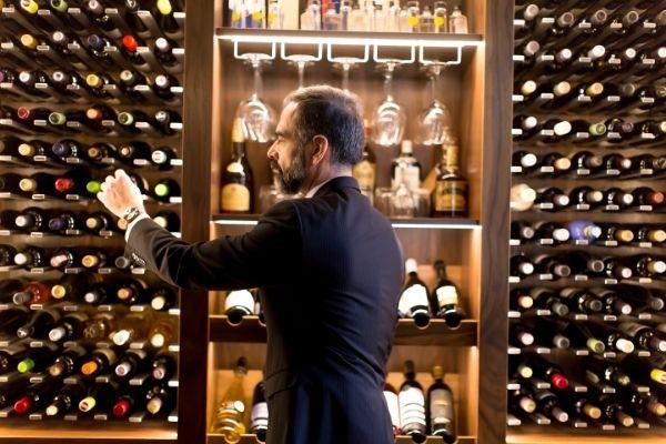Choix de bouteilles de vin