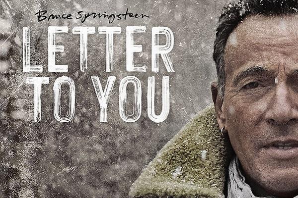 Pochette du nouvel album de Bruce Springsteen avec son visage et le titre Letter to You