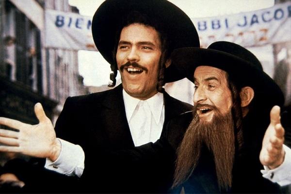 Louis de Funès et Claude Giraud dans une scène de Rabbi Jacob