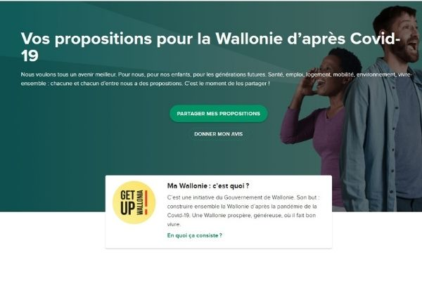 Get up Wallonia consultation task force propositions