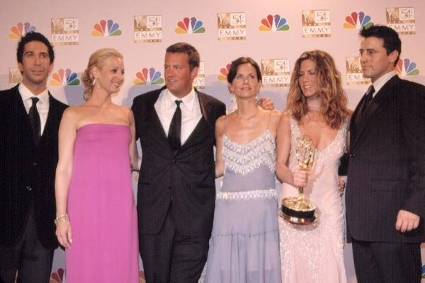 Le casting de Friends aux Emmy Awards en 2002
