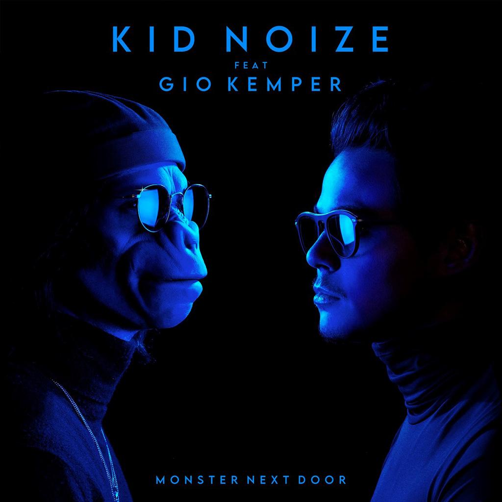 """Pochette """"Monster Next Door"""" de Kid Noize"""
