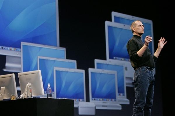 Steve Jobs lors du 40e anniversaire d'Apple