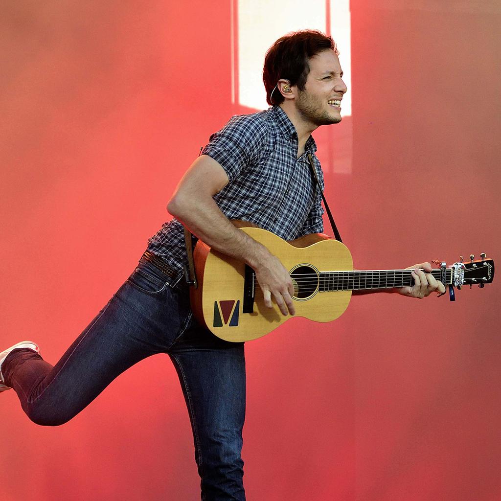 Vianney avec sa guitare