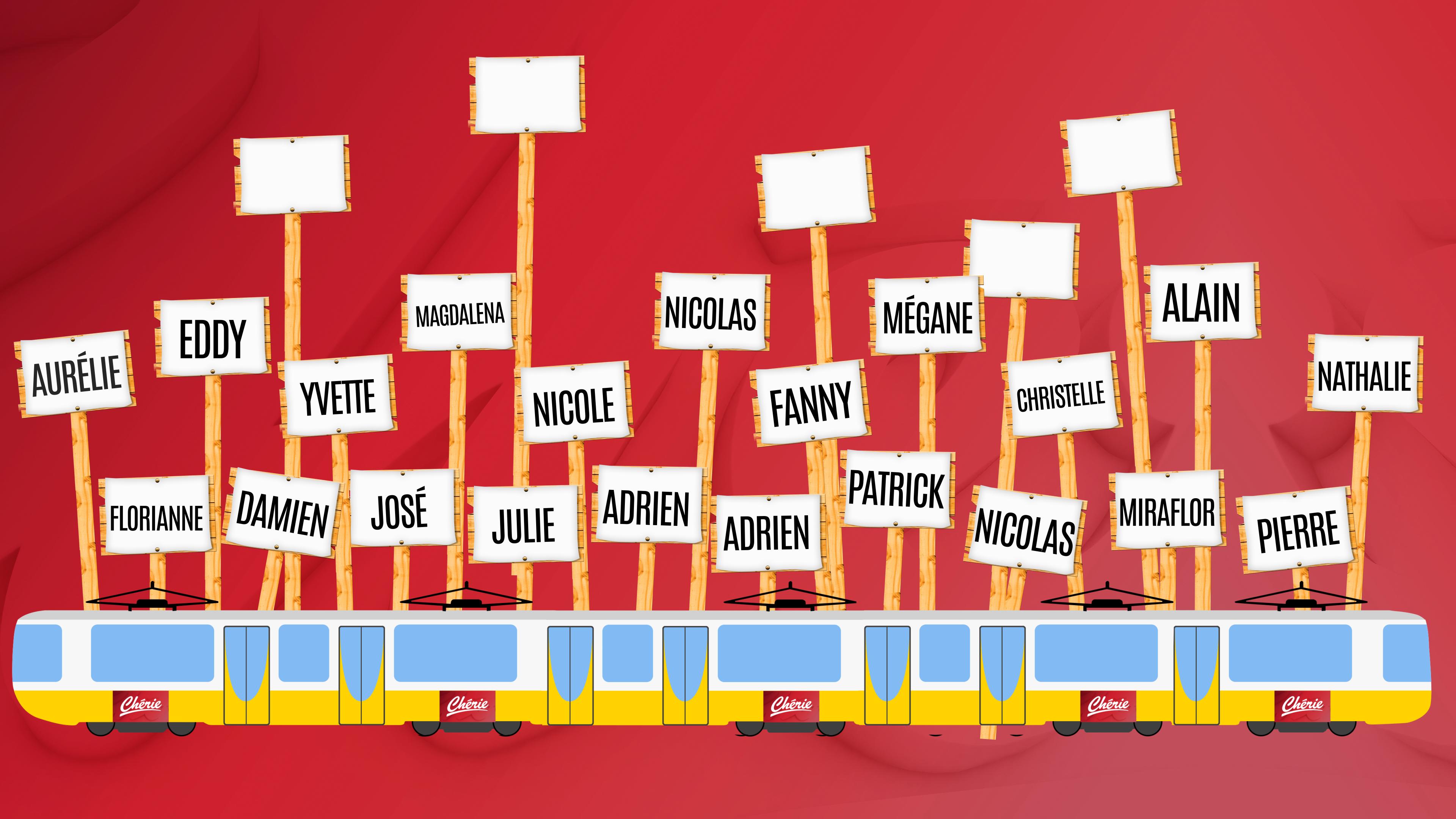 Tram Chérie participants