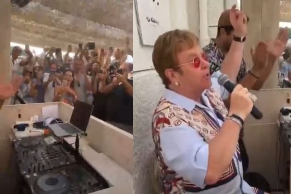 Elton John surprise
