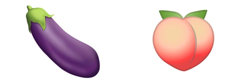 émoji aubergine peche
